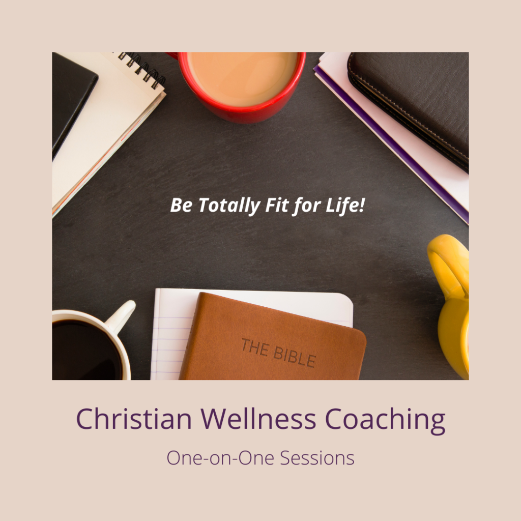 One-on-One guidance and support for you to develop and meet your weight loss and/or health, fitness, and wellness goals from a Christian perspective.