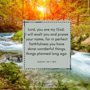God's faithfulness is perfect.