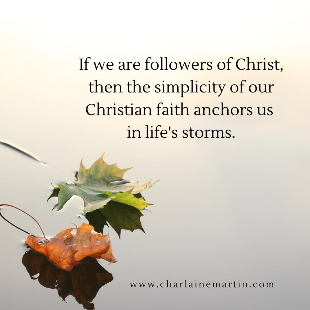 Simply follow Jesus.